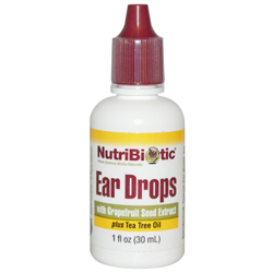 NutriBiotic Ear Drops with Grapefruit Seed Extract and Tea Tree Oil, formulated to help support the health of the ear canal when used as directed.
