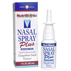 NutriBiotic Nasal Spray Plus with Grapefruit Seed Extract, echinacea, goldenseal, vitamin C, menthol, and more!
